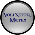 volunteer matey button