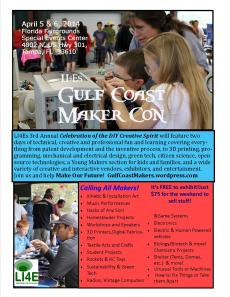 Gulf Coast MakerCon Flyer