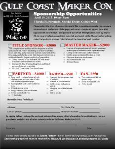 Gulf Coast MakerCon 2015 Sponsorship Opportunities