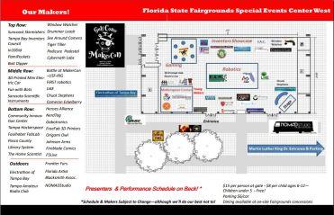 Gulf Coast MakerCon Makers and Floorplan