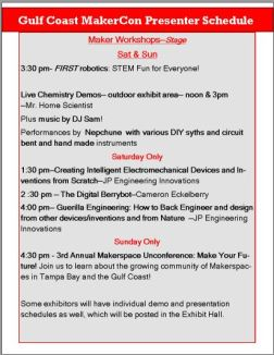 Makercon schedule