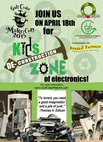 Deconstruction Zone MakerCon flyer