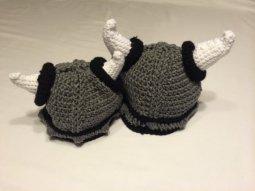 crochet viking helmet