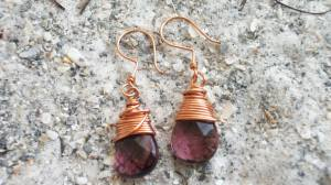 grape copper earrings