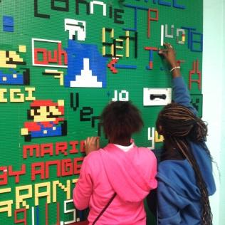 LEGO wall girls