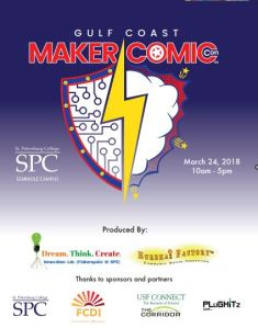 gulf coast maker comic con event program now available gulf